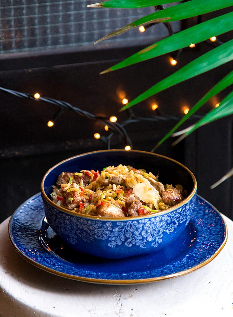 Κινέζικο ρύζι με Εν Ελλάδι χοιρινό και hoisin sauce