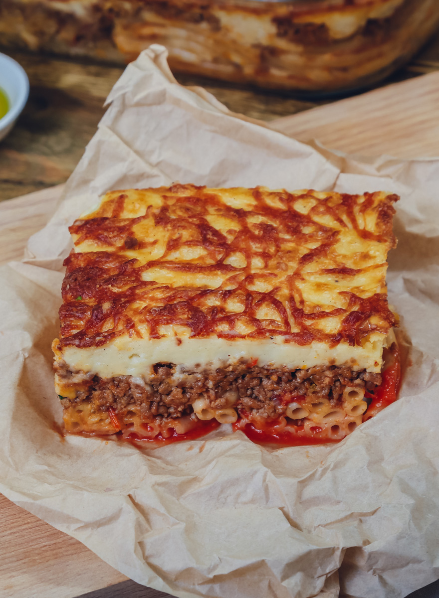 Pastitsio with En Elladi mixed mince meat