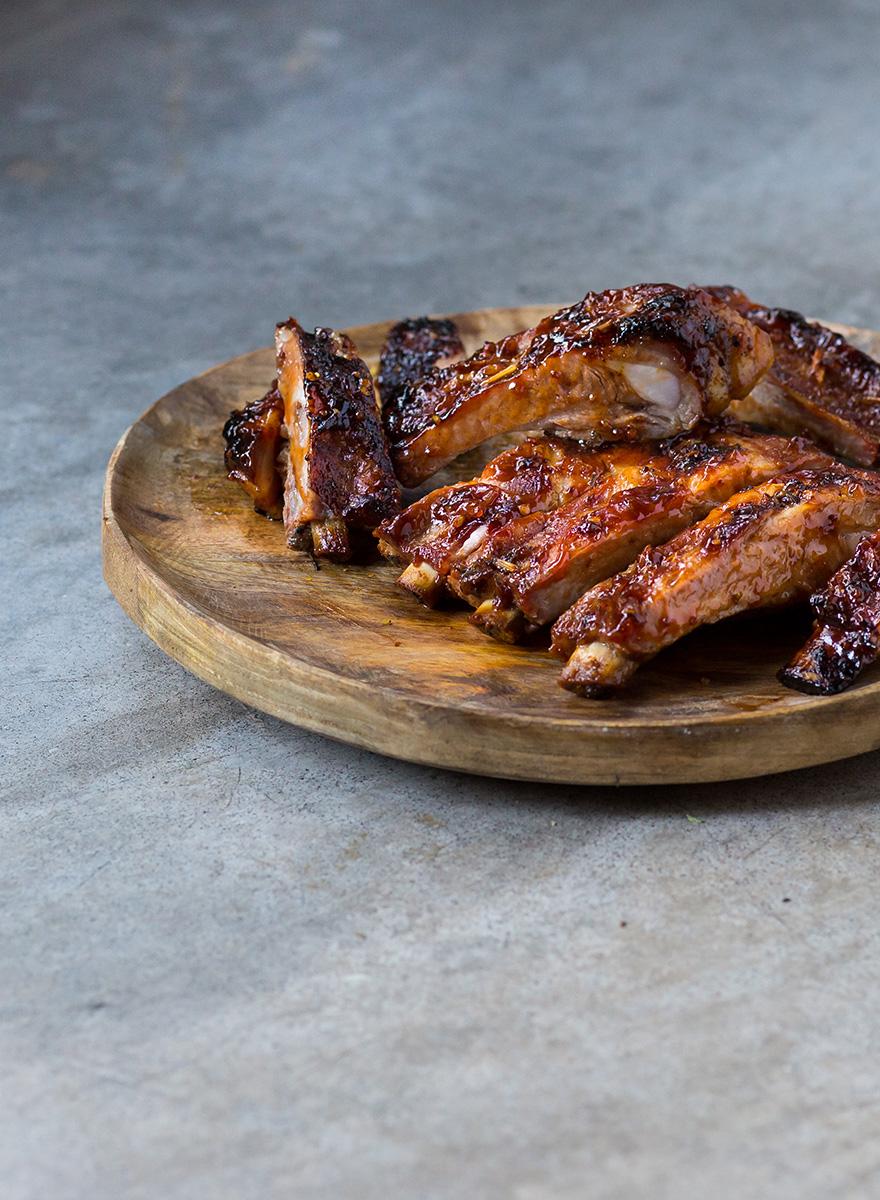 Spare ribs En Elladi with BBQ sauce